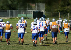 Football Practice royalty free stock image