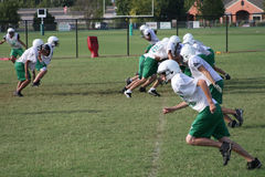 Football Practice. A photograph taken in Oklahoma City royalty free stock images