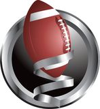 Football prize. Silver framed round football trophy Royalty Free Stock Image