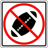 football prohibited vector sign Stock Photos
