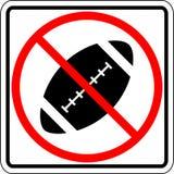 Football prohibited vector sign Stock Photos