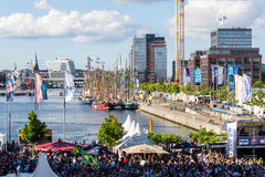 Football Public Viewing during The Kiel Week 2016, Kiel, Germany Stock Photography