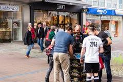 Football Public Viewing during The Kiel Week 2016, Kiel, Germany Stock Photo