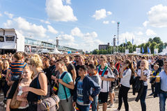 Football Public Viewing during The Kiel Week 2016, Kiel, Germany Royalty Free Stock Images