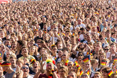 Football Public Viewing during The Kiel Week 2016, Kiel, Germany Royalty Free Stock Photo