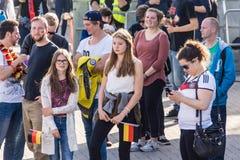 Football Public Viewing during The Kiel Week 2016, Kiel, Germany Stock Image
