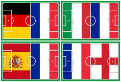 Football quarter-finals france competitors Royalty Free Stock Photography