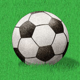 Football  recycled paper craft stick Stock Photo