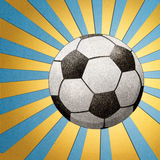 Football  recycled paper craft stick Royalty Free Stock Photography