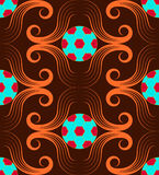 Football red blue pattern Royalty Free Stock Image
