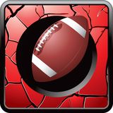 Football red cracked web button Stock Photos