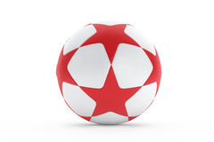 Football with red stars texture Royalty Free Stock Image