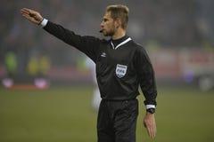 Football referee, Alexandru Tudor Royalty Free Stock Photography