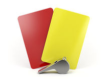 Football referee attributes Royalty Free Stock Photo