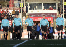 Football referee brigade Royalty Free Stock Images