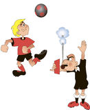 Football referee, cartoon, vector Stock Photography