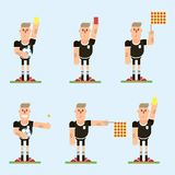 Football referee character vector illustration