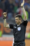 Football referee, Cristian Balaj Stock Photography