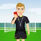 Football referee. Cute illustration of football referee Stock Image