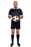 Football referee full length isolated on white Royalty Free Stock Image