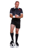 Football referee full length isolated on white Stock Photography