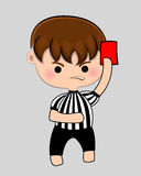 Football referee with red card Royalty Free Stock Photos