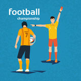 Football Referee Show Player Red Card Royalty Free Stock Image