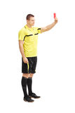 Football referee showing a red card Stock Photography