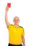 Football referee showing you the red card Royalty Free Stock Image