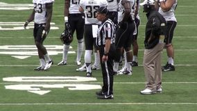 Football Referee, Umpire, Sports, Athletics. Stock video of a referee stock video