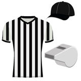 Football Referee Uniform  Isolated On White Background Stock Photography