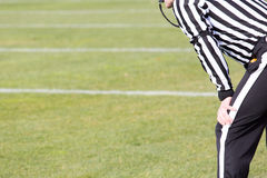 Football referee. Watch football referee in the game Stock Images