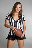 Football Referee Woman Royalty Free Stock Photography