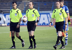 Football referees Stock Images