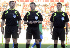 Football referees Stock Photo