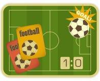 Football Retro Card Royalty Free Stock Photo
