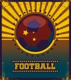 Football retro style vector art Stock Photography