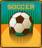 Football retro style vector art Stock Image