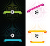 Football ribbons Royalty Free Stock Images