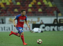 Football Romania's Liga 1– Steaua Bucuresti vs. Astra Giurgiu. Steaua Bucharest's Adrian Popa in action during a soccer match Steaua Bucharest vs. Astra Stock Photography
