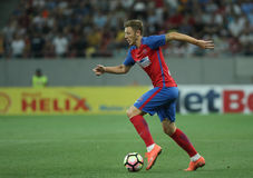 Football  Romania's Liga 1– Steaua Bucuresti vs. Astra Giurgiu. Steaua Bucharest's Bogdan Mitrea in action during a soccer match Steaua Bucharest vs. Astra Stock Photography
