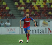 Football Romania's Liga 1– Steaua Bucuresti vs. Astra Giurgiu. Steaua Bucharest's Gabriel Tamas in action during a soccer match Steaua Bucharest vs. Astra Royalty Free Stock Images