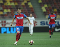 Football  Romania's Liga 1– Steaua Bucuresti vs. Astra Giurgiu. Steaua Bucharest's Ricardo Boldrin  L  in action  during a soccer match Steaua Bucharest vs Stock Images