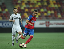 Football  Romania's Liga 1– Steaua Bucuresti vs. Astra Giurgiu. Steaua Bucharest's Ricardo Boldrin ( R ) in action  during a soccer match Steaua Bucharest vs Stock Photography
