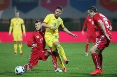 FOOTBALL - ROMANIA vs. LITHUANIA Stock Photo