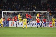 Football - Romania vs. Spain Royalty Free Stock Images