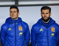 FOOTBALL - ROMANIA vs. SPAIN Stock Photo