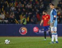165aad02c7c FOOTBALL - ROMANIA Vs. SPAIN Editorial Stock Image - Image of friendly