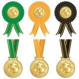 Football rosettes Stock Images