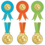 Football rosettes Royalty Free Stock Images